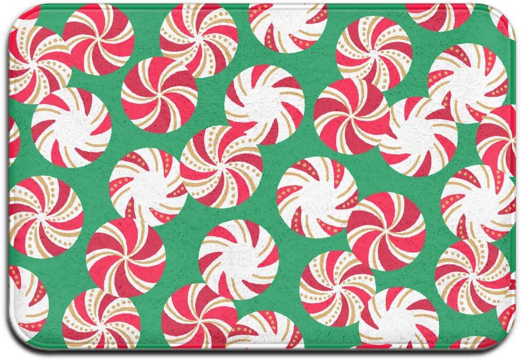Amazon Com Yangpa Christmas Peppermint Candy Outdoor Rubber Mat Front Door Mats Porch Garage Large Flow Slip Entry Carpet Standard Rug Home 23 62 15 74 Home Kitchen