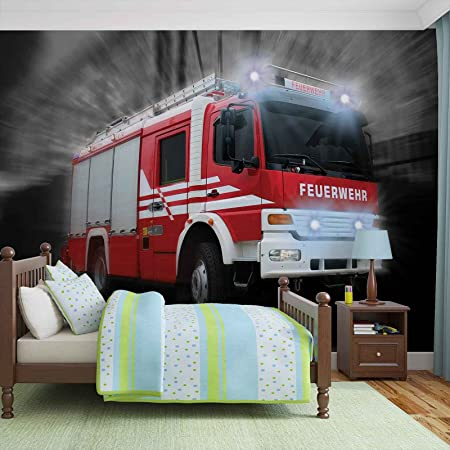 Feuerwehr Auto Fototapete Wandbild Bild Tapete Vlies Easyinstall Fw