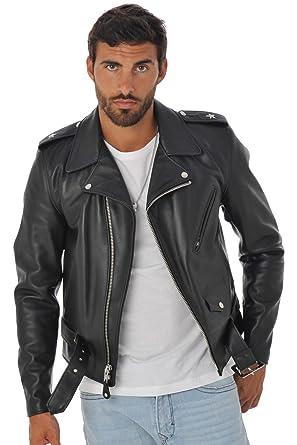 87334f0a858 Schott NYC 613 Perfecto Jacket Black - Black - M  Amazon.co.uk  Clothing