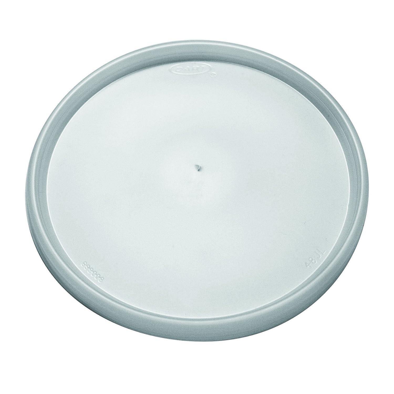 Dart 48JL Plastic Lids, Fits 24-32oz Cups, Translucent (5 Packs of 100)
