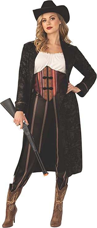 Make an Easy Victorian Costume Dress with a Skirt and Blouse Rubies Cowgirl Costume for Adults $36.07 AT vintagedancer.com