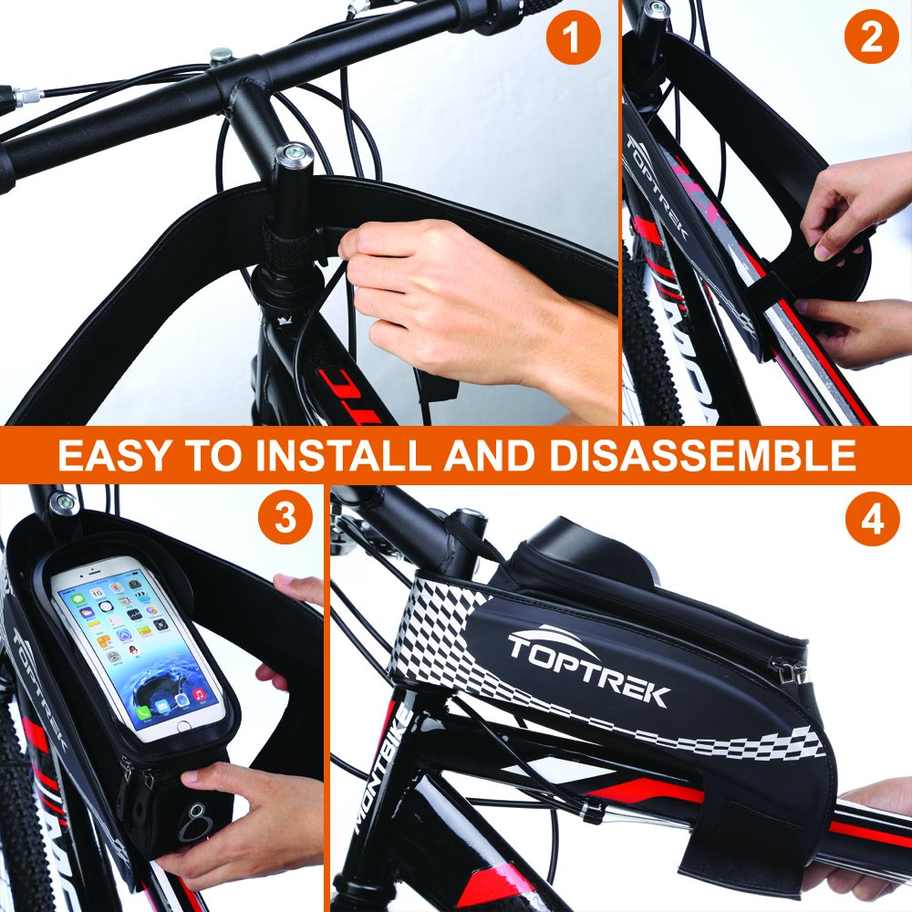 Bike Bag Waterproof Bicycle Top Tube Touch Screen Rockbros A 008 Handlebar Front Pannier 3 4l Phone Holder For Iphone X 6 7 Plus 8 Samsung Galaxy S7 S6 Note Bmx Road Mountain