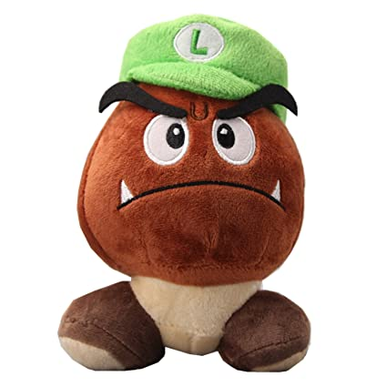 fc4ad9a76ac Amazon.com  uiuoutoy Super Mario Bros. Goomba with Luigi HAT Stuffed ...