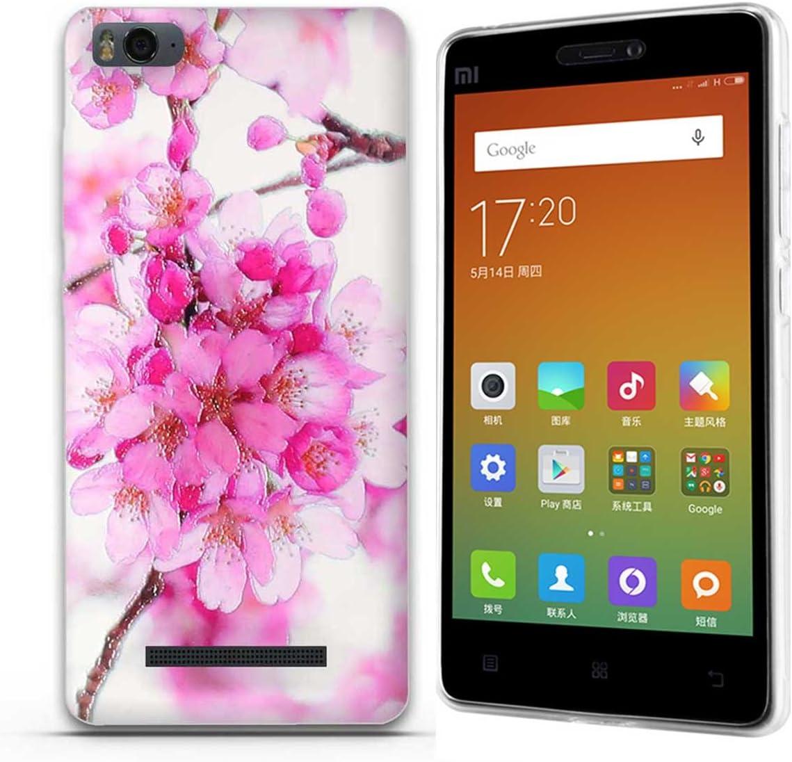 FUBAODA Funda para Xiaomi mi4c(m4i m4c) Hermosa Flor Patrón,Fina ...