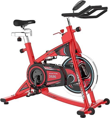 pooboo Belt Drive Exercise Bikes 40lbs Flywheel Indoor Cycling Bike