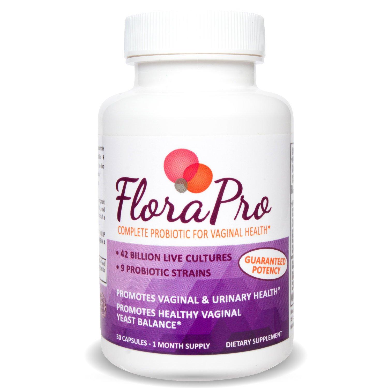 FloraPro Feminine Probiotic for Vaginal Health | 42 Billion CFU | 9 Live Strains | Promotes Vaginal Flora and Yeast Balance