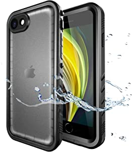 SPORTLINK Waterproof Case for iPhone SE 2020/iPhone 7/8, Full Body Heavy Duty Protection Full Sealed Cover Shockproof Dustproof Built-in Clear Screen Protector Rugged Case for iPhone SE 2nd Generation