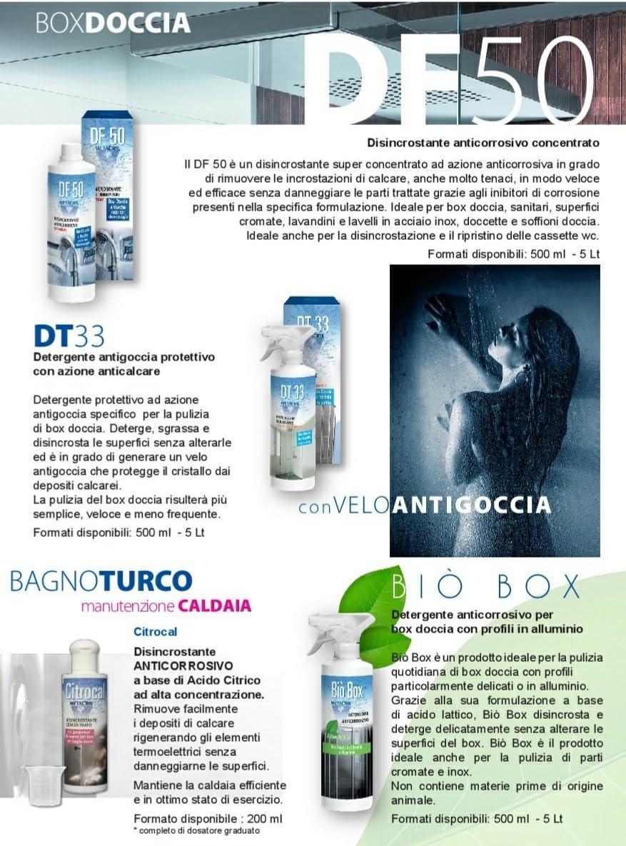 Limpiador y desincrustante antigoteo para cuadro de ducha + super desincrustante anticorrosión concentrado DT33 500 ml + DF50 500 ml. -: Amazon.es: Hogar