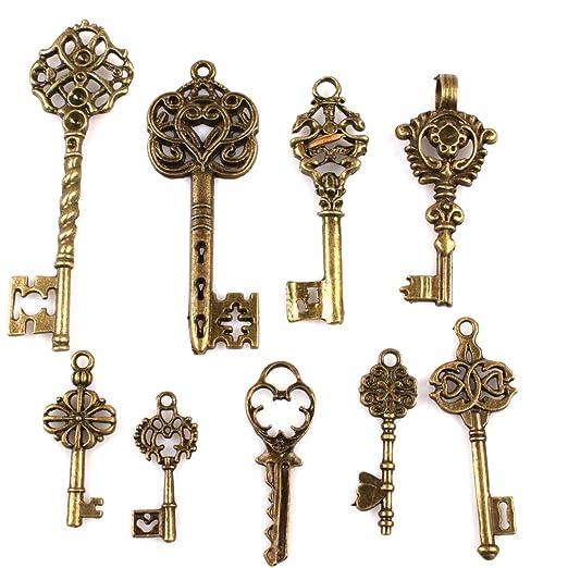 6 opinioni per 10 pezzi Antiche Bronzo Annata chiave dei pendenti in stile incanta i risultati