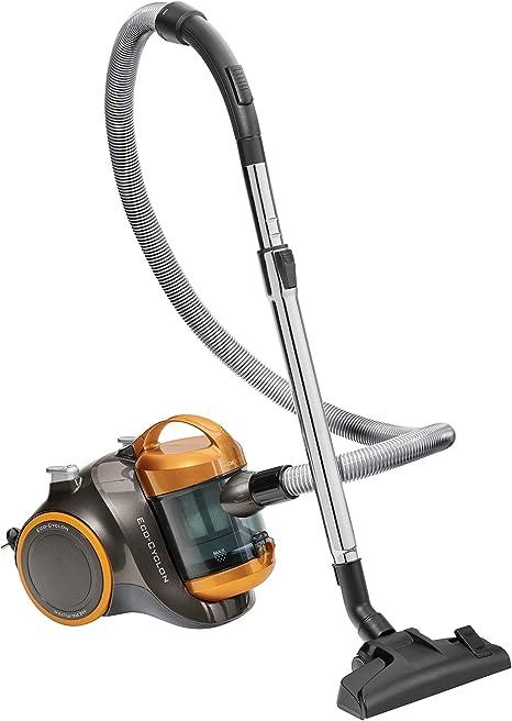 Clatronic BS 1304 P – Aspiradora con cepillo turbo para atrapapelo, filtro HEPA, antracita/amarillo: Amazon.es: Hogar
