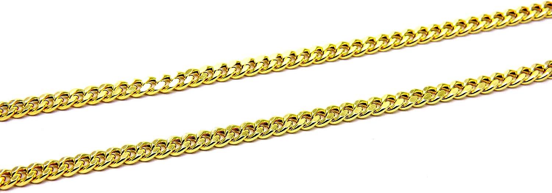 PEGASO GIOIELLI Collar de oro de 18 quilates de diamantes de malla Cadena de Granos 5 Cm para