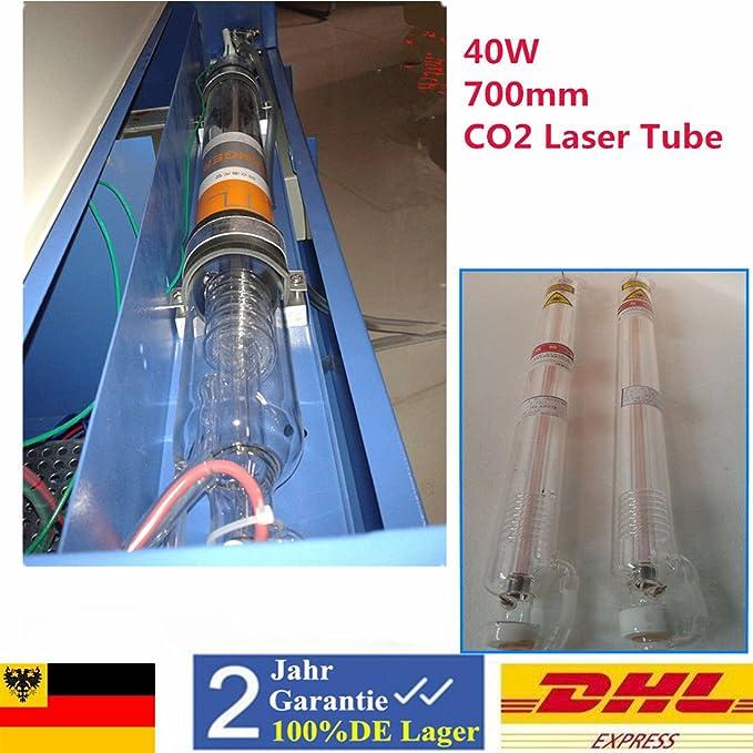 40 W CO2 Laser Tube Laser Tubo 700 mm 10.6μm para máquina de grabado láser CO2: Amazon.es: Bricolaje y herramientas