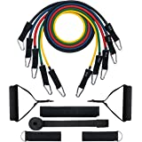 Mpow [G-3] Resistance Bands, Up to 150 LBS & Updated with New Model Door Anchor & Band Guard, Fitness Tubes Set for Losing Body, Strengthening, Shaping Body, Rehabilitative Exercises