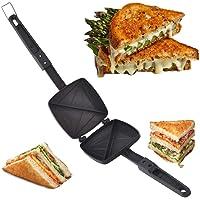 Varshine Silver Touch Non-Stick Aluminium Gas Toaster Cum Sandwich Maker || Black || A-567