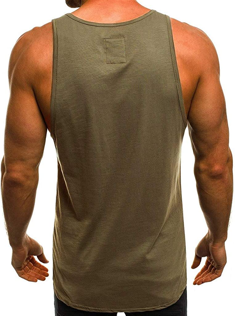 Colmkley Mens Gym Bodybuilding Tank Top Muscle Workout Fitness Sleeveless Vest