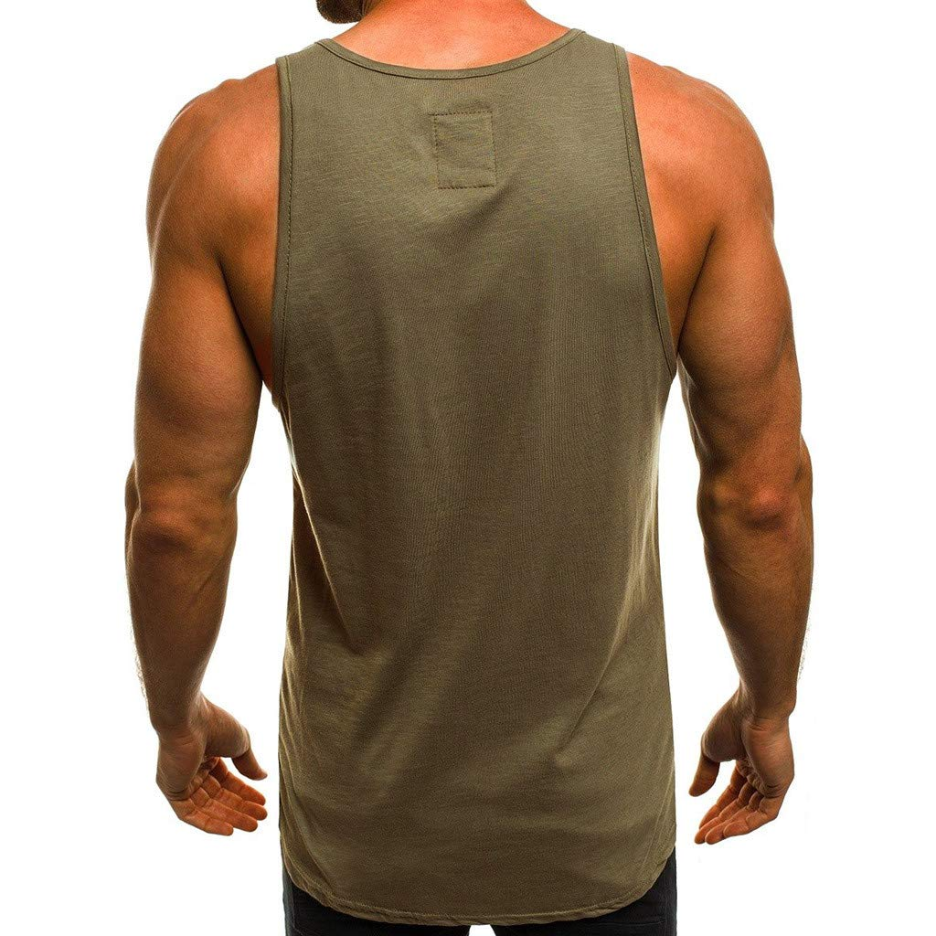 Hot!Ninasill Men Large Size Letter Printing Cool Hip hop Loose Sleeveless Round Neck Tank Tops Fashion Leisure t-Shirt Tops