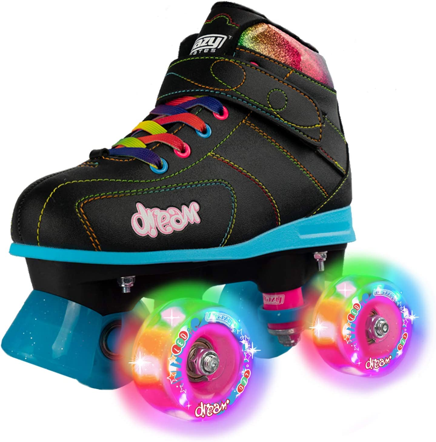 Crazy Skates Dream Roller Skates for Girls with LED Light-up Wheels