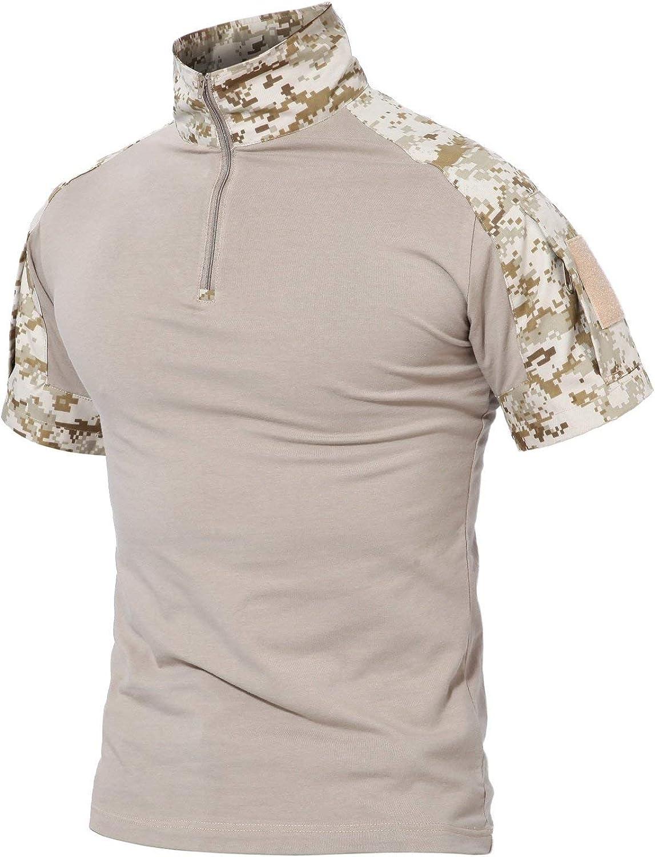 Camisa Táctica del Ajuste Delgado Los Largas Camisas del De Hombres Combate Moda Completi del Camuflaje De Airsoft Camisa Delgada del Deporte Al Aire Libre del Deporte Tops De Las Tapas: Amazon.es: