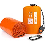 Bearhard Emergency Sleeping Bag Bivy Sack with Paracord, Ultralight Waterproof Thermal Survival Bivvy Bag Survival Shelter Em