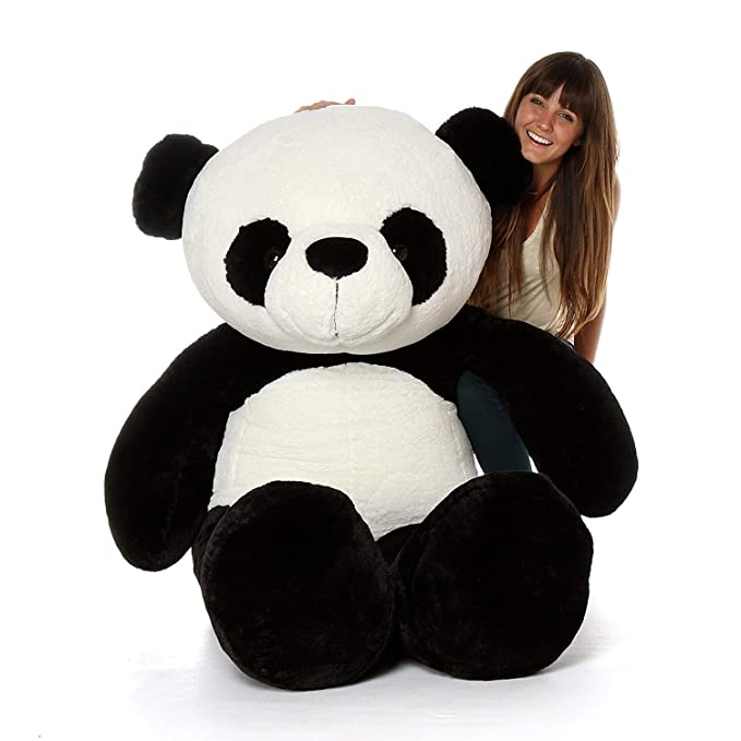OS Retail 4 Feet Stuffed Spongy Panda Teddy Bear (White ,Black / 122 cm