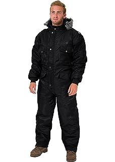 HAGOR Black IDF Snowsuit Winter Clothing Snow Ski Suit Coverall Insulated  Suit b3d4c53caeb