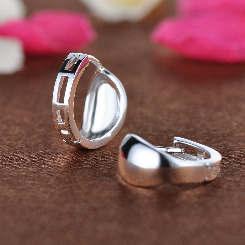 Infinite U Simple Smooth Polish orecchini a cerchio in argento 925 da donna  (con sacchetto regalo): Amazon.it: Gioielli