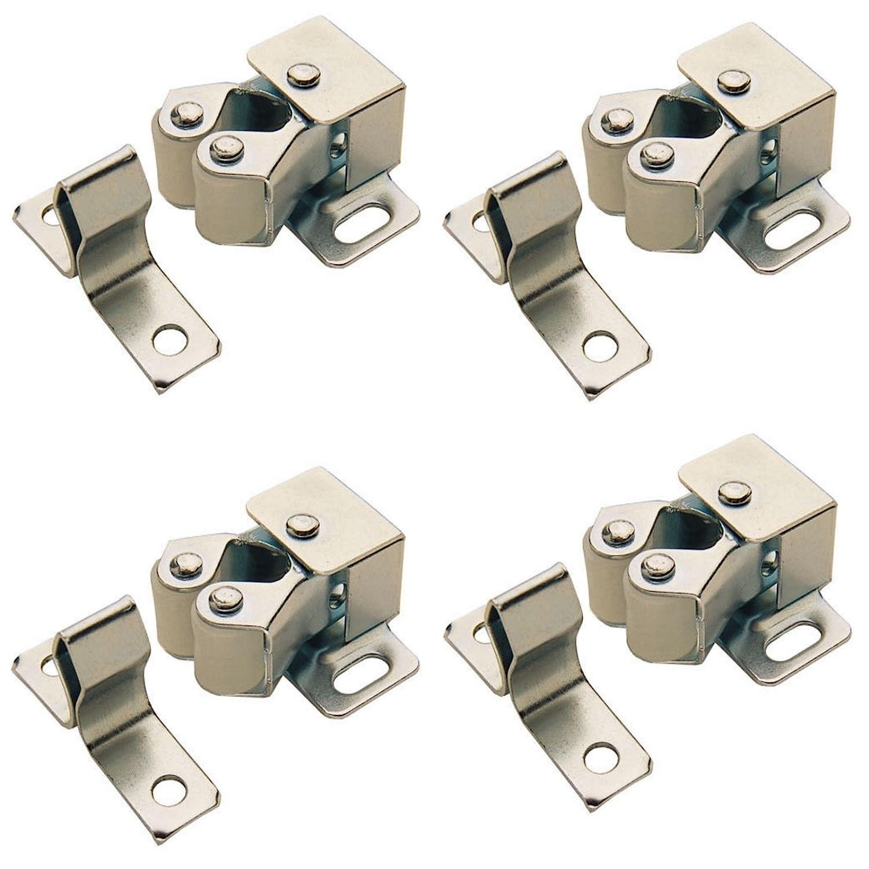 4 x ROLLER CATCH CUPBOARD CABINET DOOR LATCH TWIN DOUBLE CATCHES CARAVAN BOAT Lighting Innovations