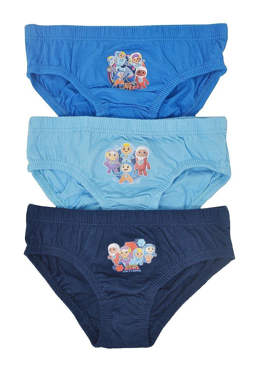 Aumsaa Ragazzi E Bambini Personaggi 100% Slip di Cotone Intimo Sottoveste Pantaloni Confezione da 3