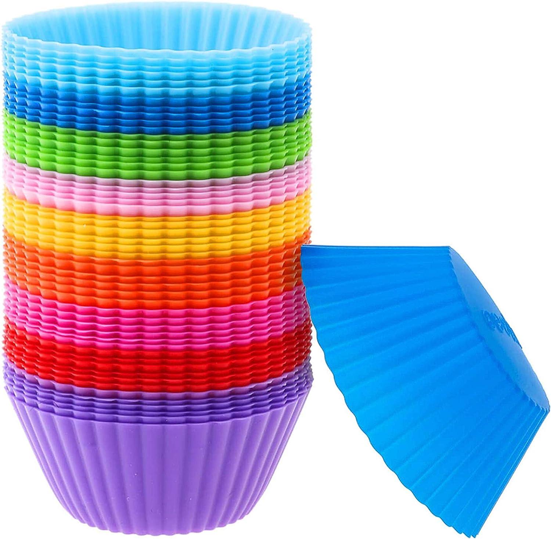 Gurxi 45 Piezas Envoltura a Prueba de Grasa para Muffins Mini Estuches de Papel para Cupcakes Envoltura de Cumpleaños de Cupcake Boda Fiesta para Herramientas de Cocción de Bricolaje (Multicolores): Amazon.es: Hogar