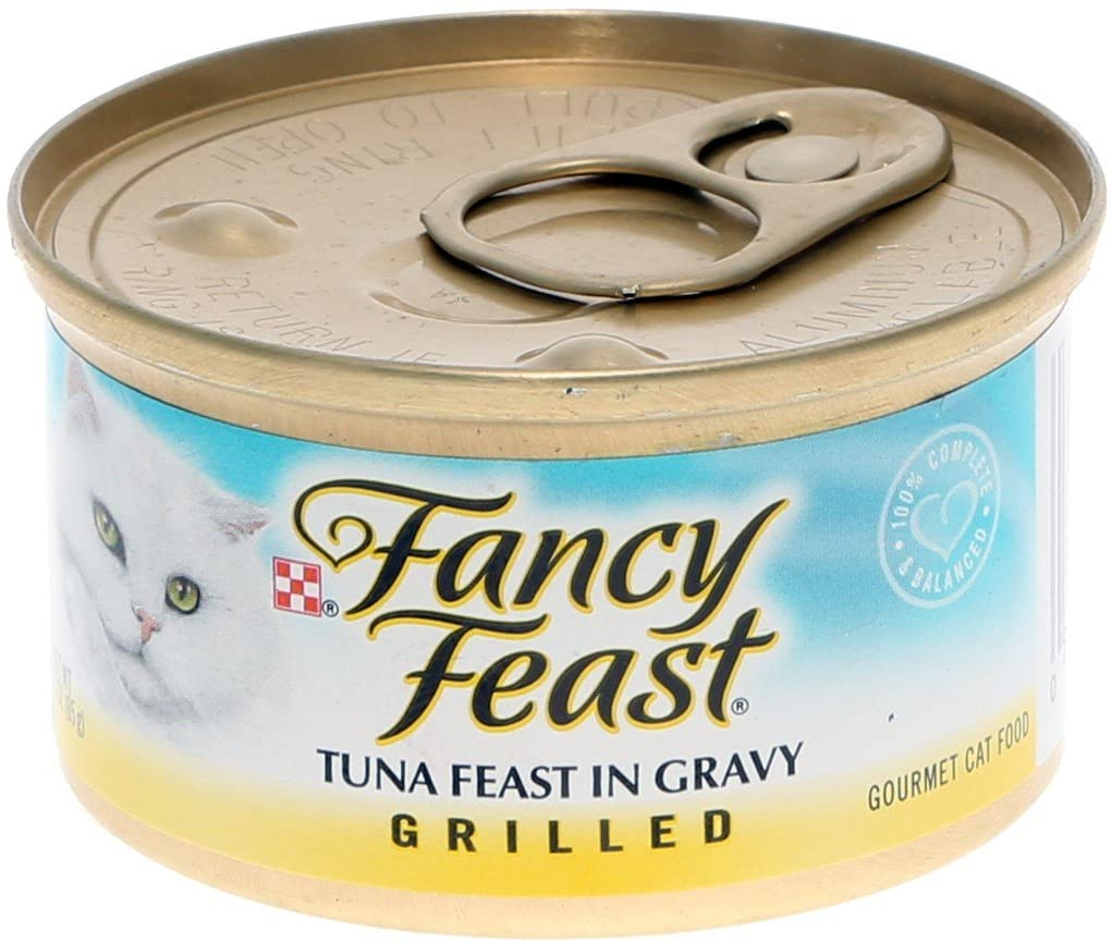 Fancy Feast Grilled Tuna Feast in Gravy Canned Cat Food, 3-oz, case of 12