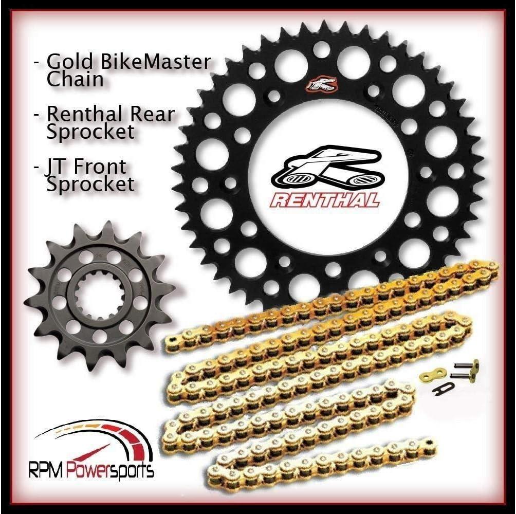 Renthal Black Sprocket and Gold Chain Kit Suzuki Rmz450 Rmz 450 2013-15 13-50T