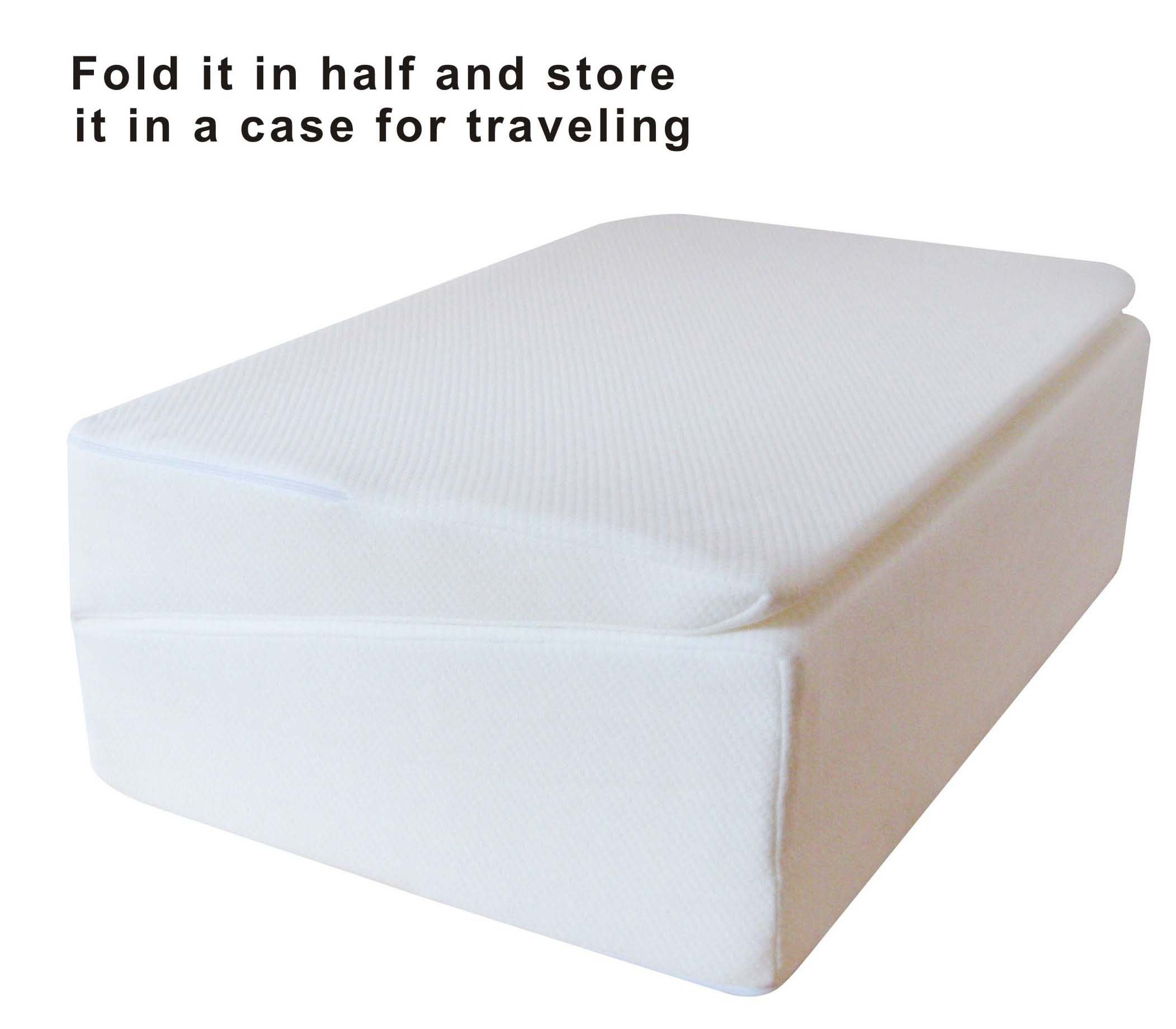 InteVision Folding Wedge Bed Pillow (32'' x 25'' x 6.5'') with a Carrying Case by InteVision (Image #4)