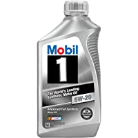 6-Pack Mobil 1 44975 5W-20 Synthetic Motor Oil - 1 Quart