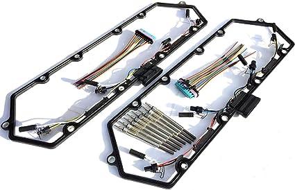 amazon com 97 03 ford powerstroke 7 3l diesel glow plug set gaskets rh amazon com