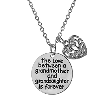 899e94b8f9bd Love between a Grandmother and Granddaughter is Forever Necklace - Family  Jewelry Gift - 18 quot