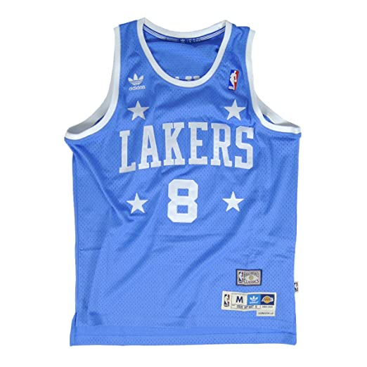a6d3b941844 Amazon.com : adidas Los Angeles Lakers Kobe Bryant #8 Hardwood Classics  Soul Swingman Youth Jersey - Blue : Sports & Outdoors