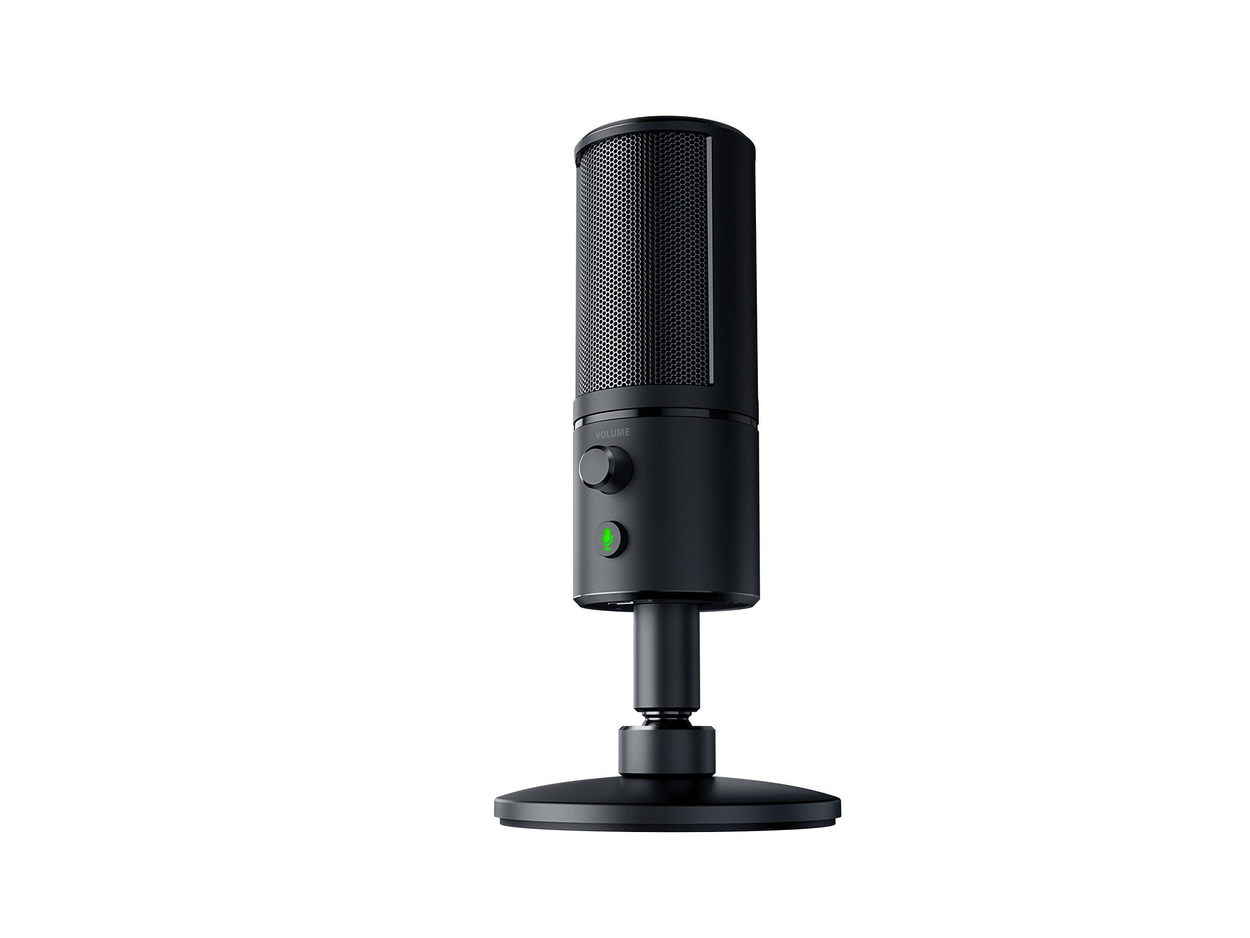Razer Seiren X USB Streaming Microphone: Professional Grade - Built-In Shock Mount - Supercardiod Pick-Up Pattern - Anodized Aluminum - Matte Black by Razer