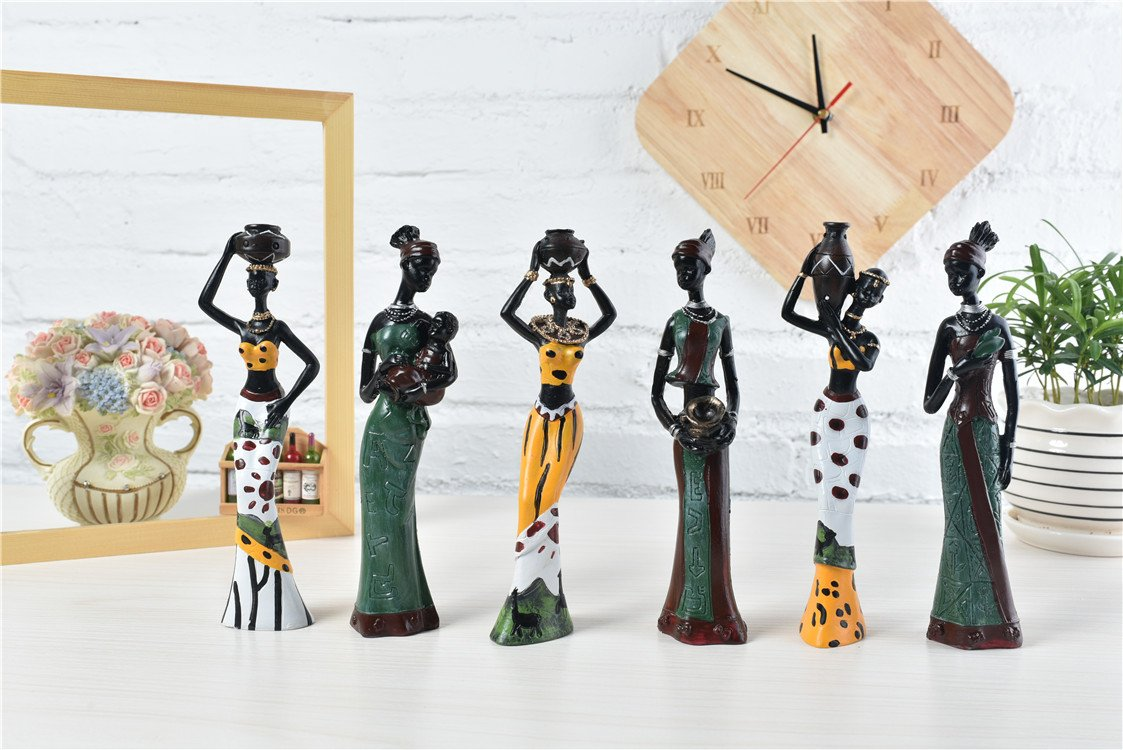 TBW African Tribal Women Collectible Figurines for Mother's Gifts,Green,Pack of 3 by TBW (Image #7)