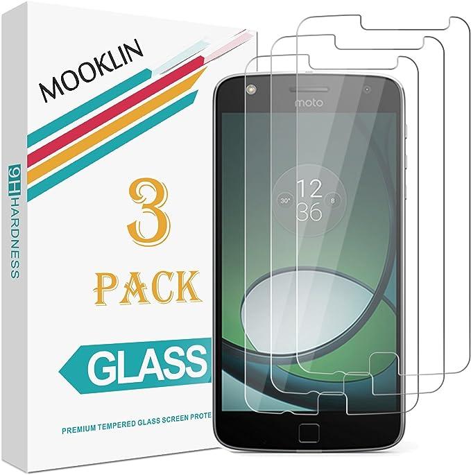 MOOKLIN [3 Piezas] Motorola Moto Z Play Protector de Pantalla, [Anti-Rasguños] Film Protector de Pantalla para Motorola Moto Z Play Cristal Vidrio Templado Premium: Amazon.es: Electrónica