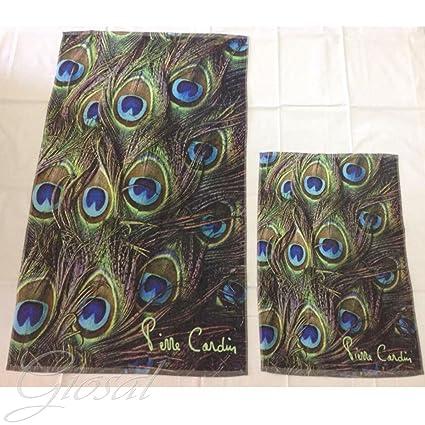 Juego toallas 1 + 1 Impresión Digital Pierre Cardin Rizo 100% algodón GIOSAL