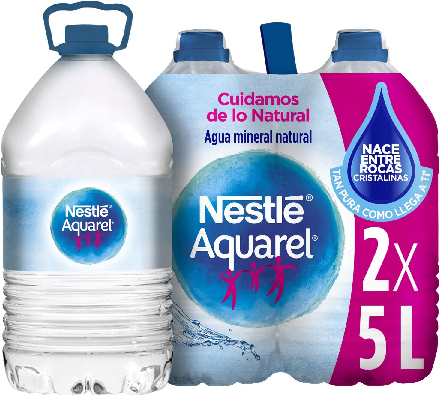 Nestlé Aquarel Agua Mineral Natural - Pack de 2 x 5 l - Total ...