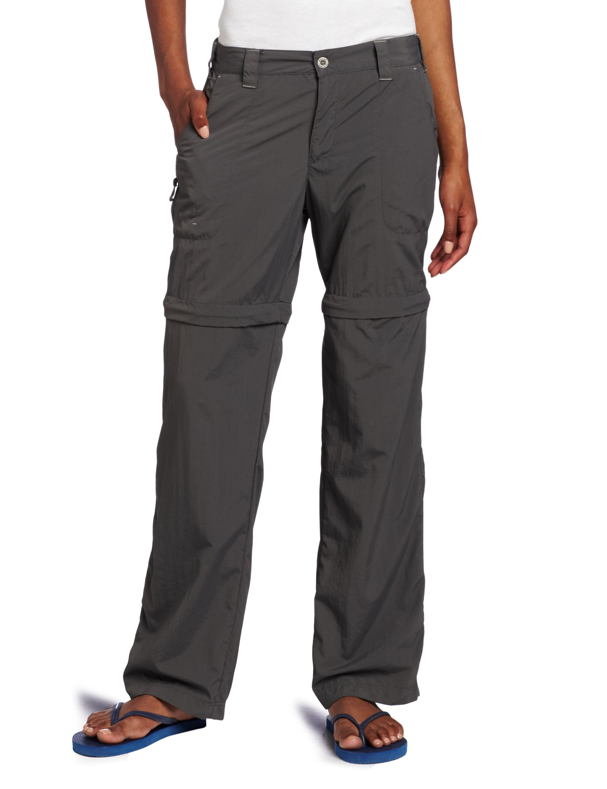 White Sierra Women's Sierra Point 31-Inch Inseam Convertible Pant, X-Large, Caviar