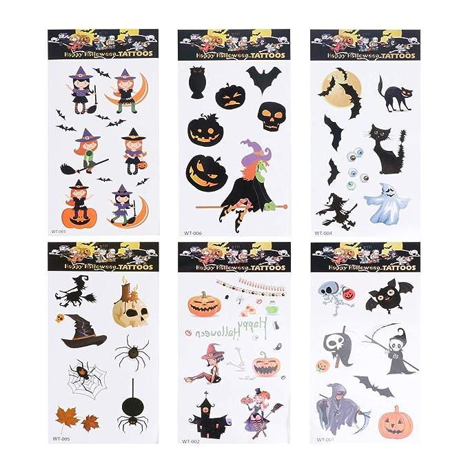12 hojas bruja tatuaje pegatina dibujos animados murciélago ...