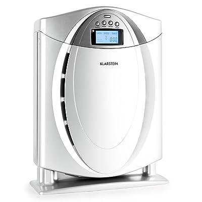 Klarstein Grenoble • Purificador de aire • Ionizador • Prefiltro • Filtro HEPA • Filtro catalizador frío • Filtro carbón activado • Silencioso • Poco espacio • Bajo consumo • Apto alérgicos • Plateado