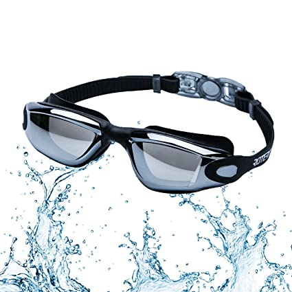 192b8322f9d2 ROTERDON Swimming Goggles Glasses Goggle Anti Fog UV Protection No Leaking  and Mirrored Professional for Adults Mens Womens Chidrens Youth Junior Kids  in ...
