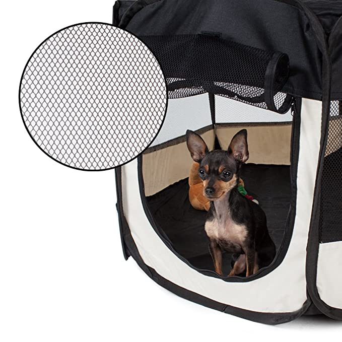TecTake Parque para cachorros recinto parque para animales perros gatos - disponible en diferentes colores - (Negro | no. 400734): Amazon.es: Productos para ...