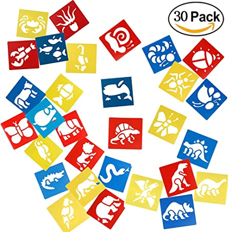 plastic animals painting template drawing stencil templates for kids craftswashable template for school projects - Kids Painting Templates