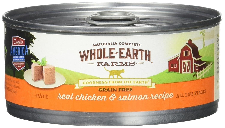 Whole Earth Farms 24 Case Grain Free Real Chicken Salmon Recipe, 5 Oz