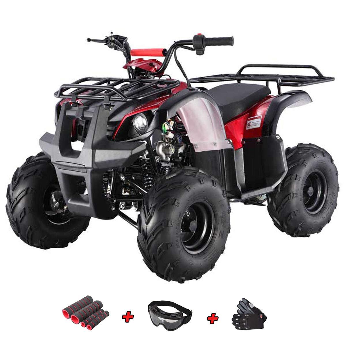 X-Pro 125cc ATVクアッドキッズ ATV ユース ATV 4輪バギー125 ATVクアッドコプター、グローブ、ゴーグル、ハンドグリップ付き  Spider Blue B07R6KVSN1