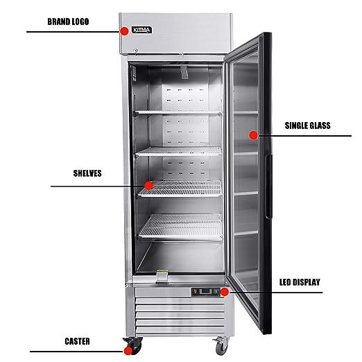 KITMA - Congelador de mercancías para puerta de cristal con ...